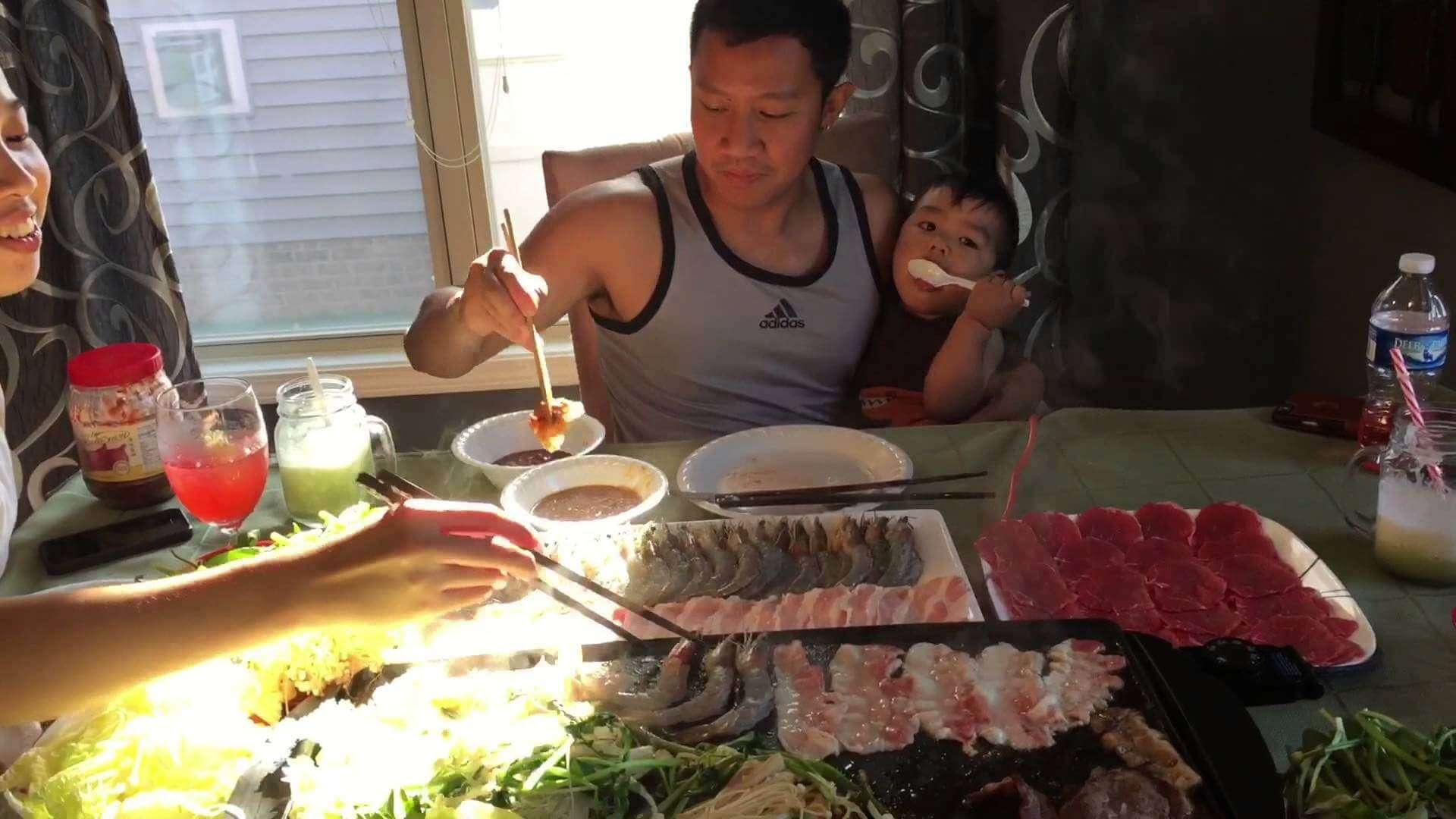 barbeque,laos food, delicacies,sin dad