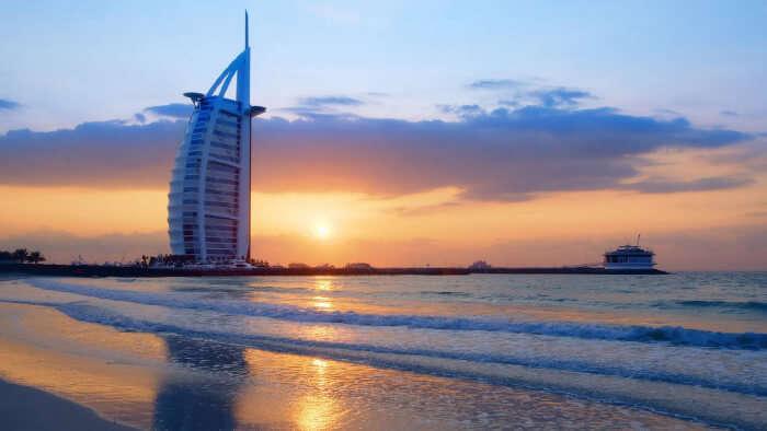 incredible views of the iconic Burj Al Arab
