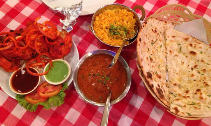 huge variety of Indian dishes