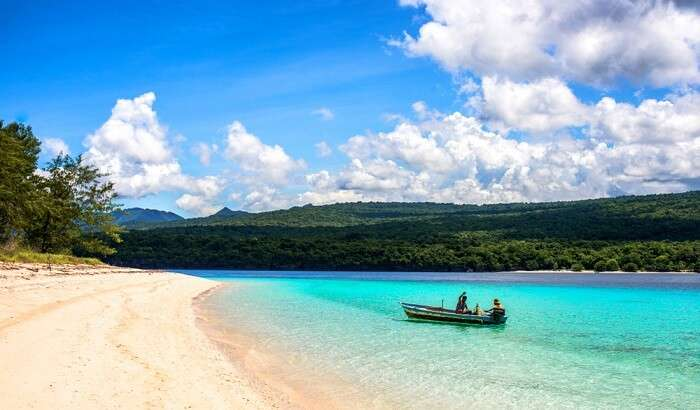 boat,blue water,nature,timor