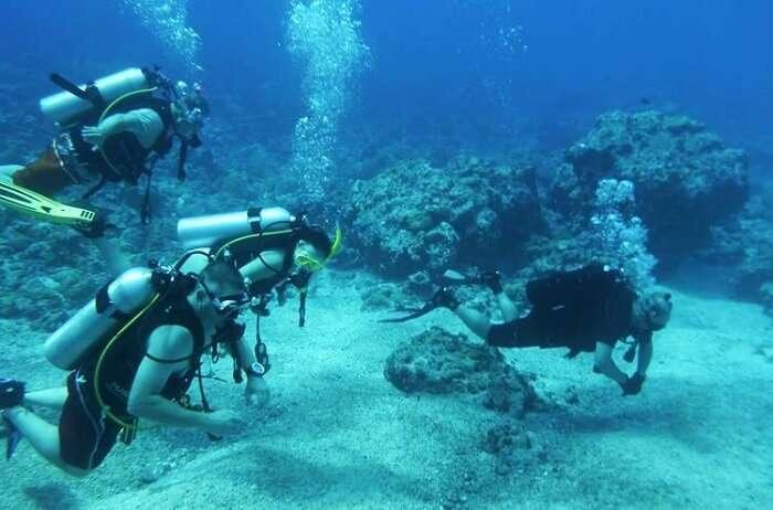 Diving at Mauritius east coast