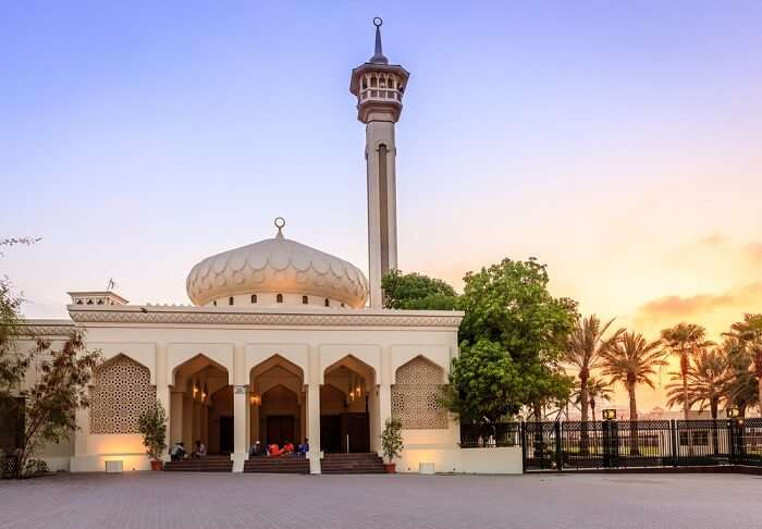 grand mosque bur dubai in day