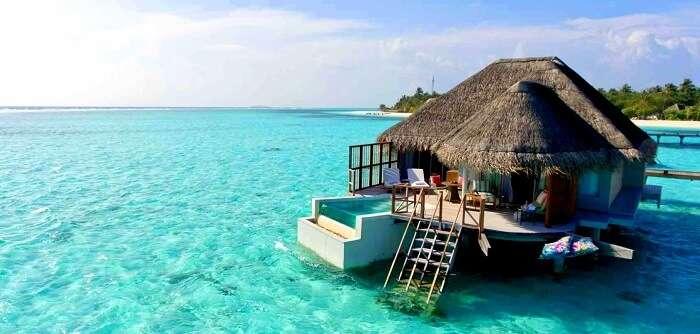 water villa in the resort