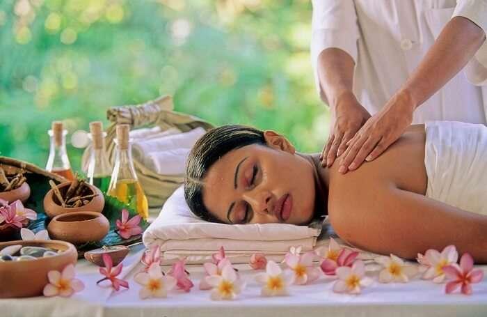 girl getting massage
