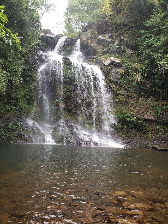 amazing waterfall from rocks
