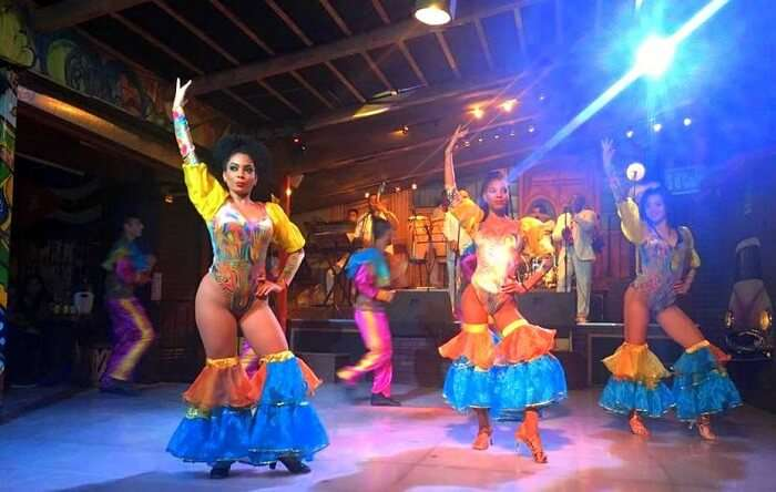 exclusive dance performance at the mexican club