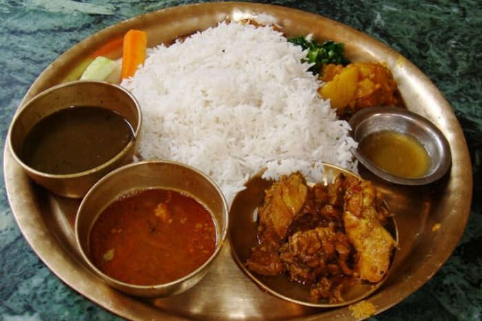 Dashain food, Dal Bhat