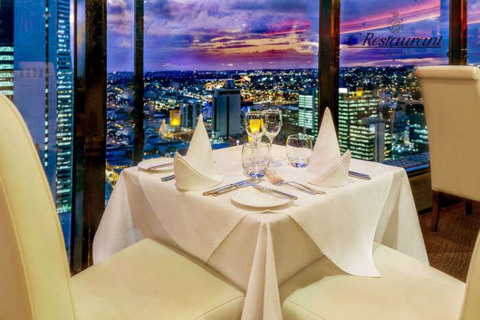 table and beautiful sceneario
