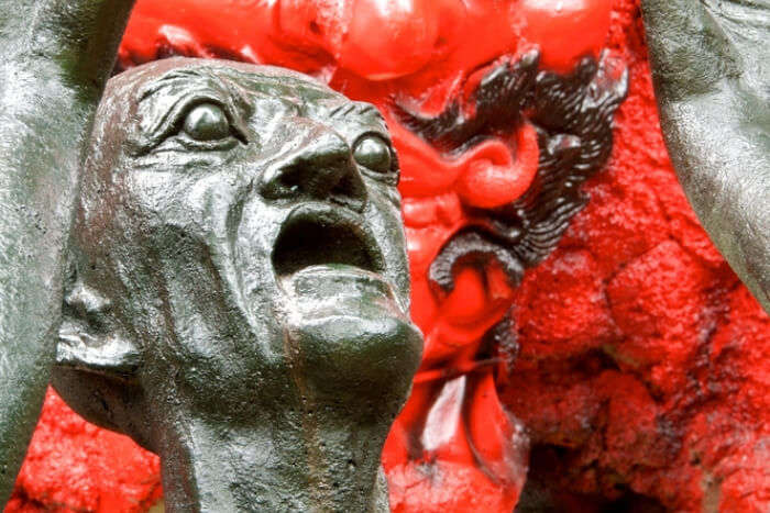A statue at Hell temple in Thailand