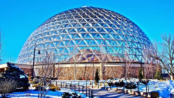 dome structure from the outside of the zoo