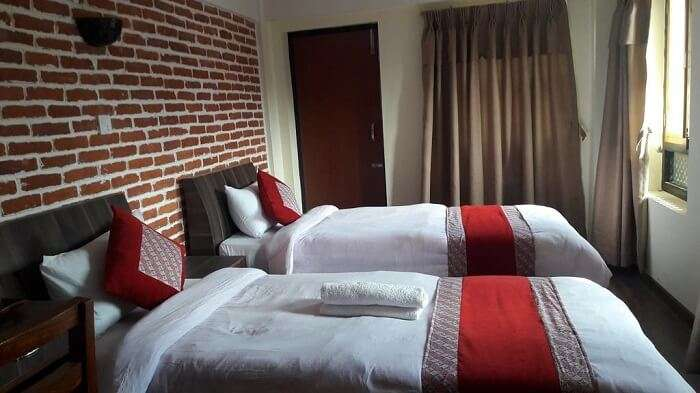 twin bedroom in nepal homestay
