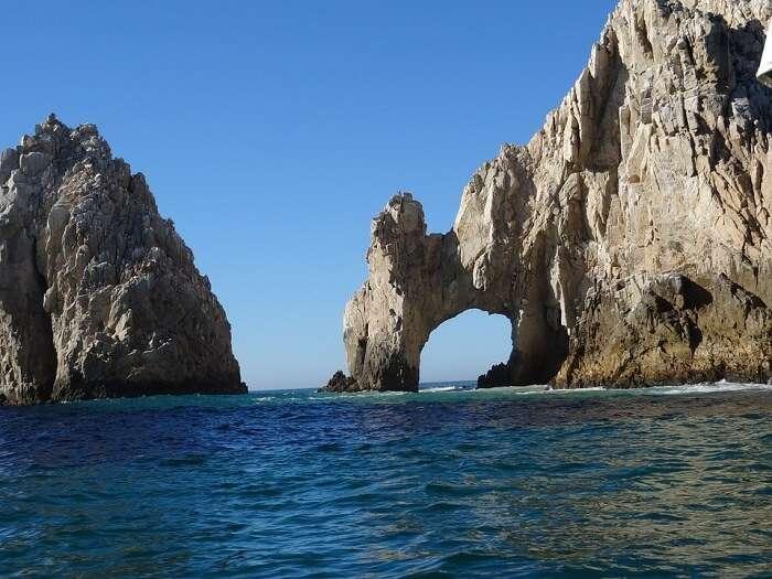 mountain rocks and sea