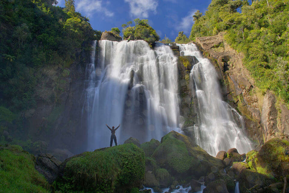beautiful Marokopa Falls of new zealand