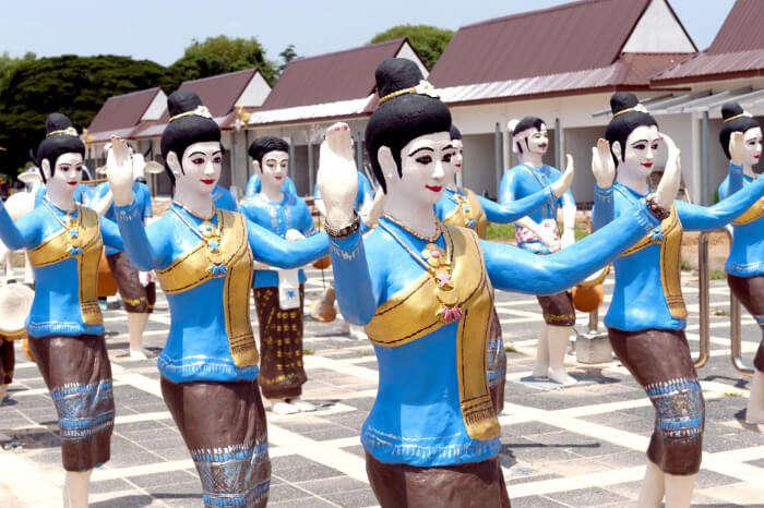 Women statues at Phaya Kankak Public Park in Thailand