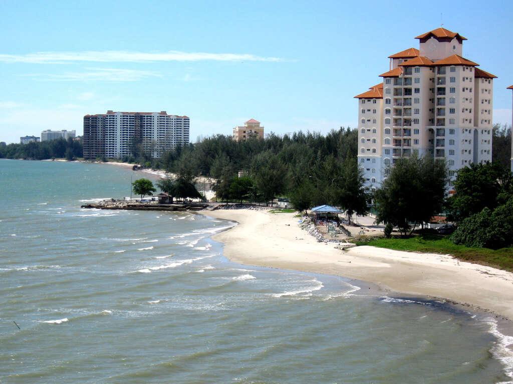 beach with seashore