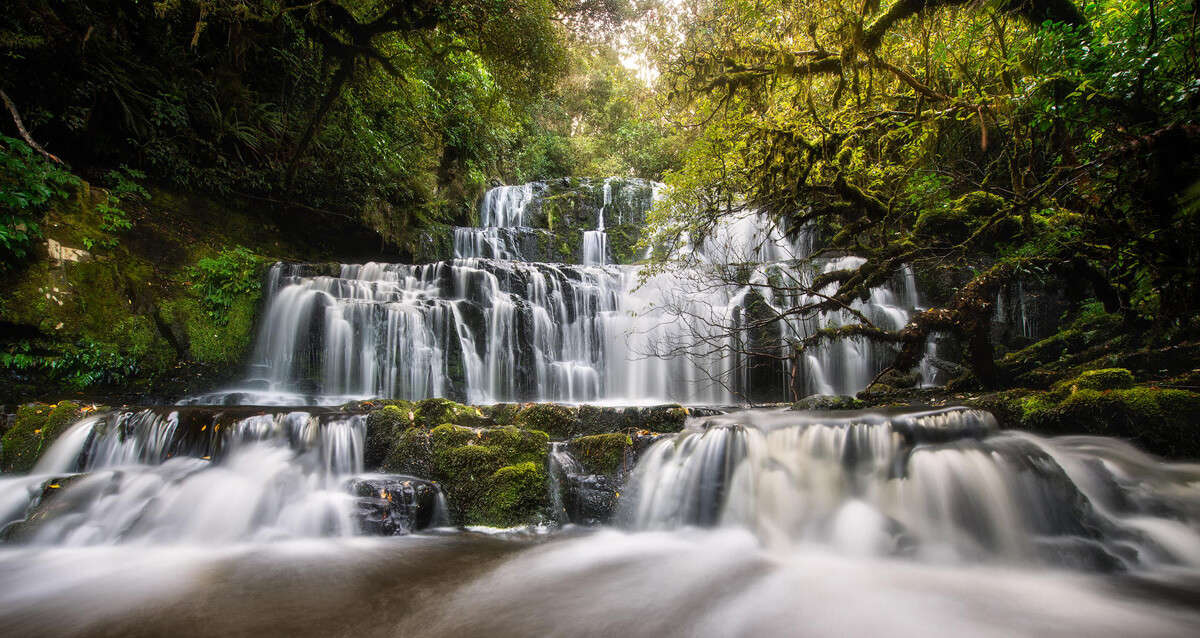beautiful Purakaunui Falls
