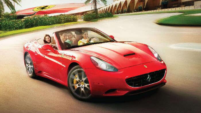 A real Ferrari ride at Ferrari World