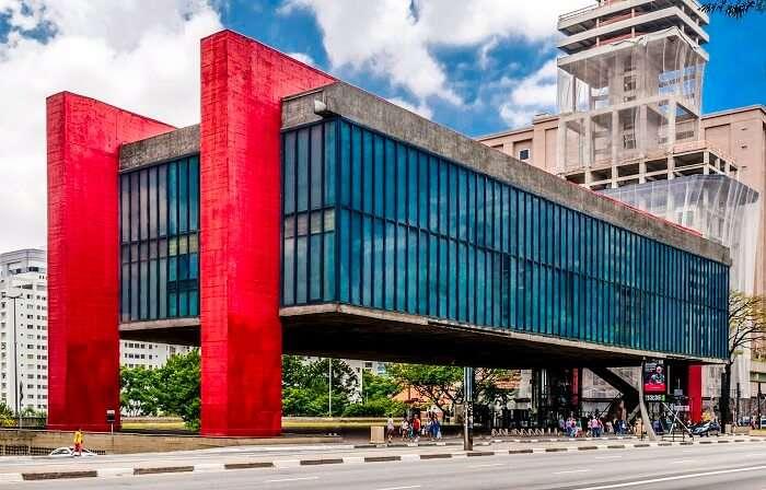 impressive architecture of the building