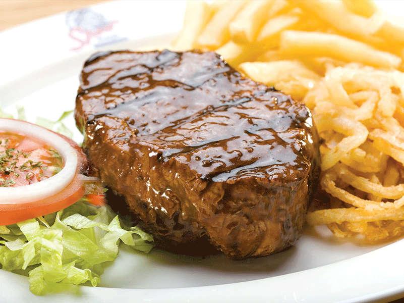 super tasty burgers, ribs and steaks