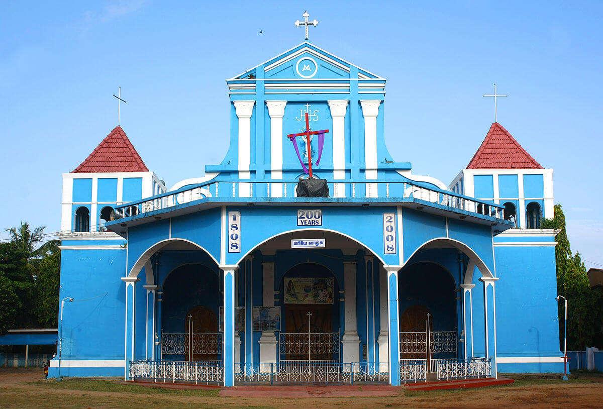 built in blue color