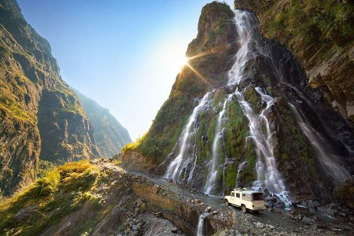 Waterfalls In Nepal Cover