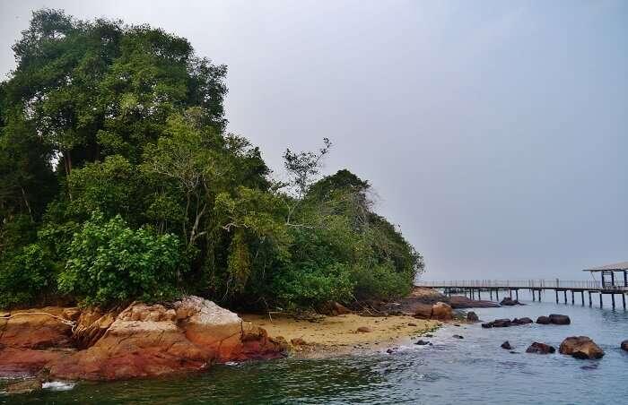 a pristine rocky beach