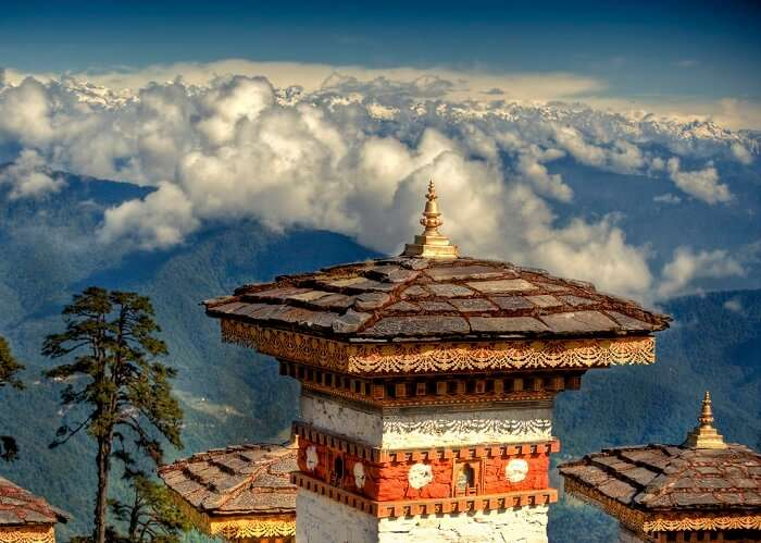 mountain pass in Bhutan
