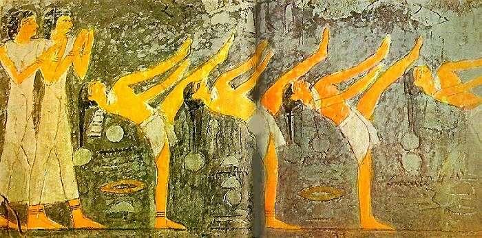 paintings in Tomb of mehu