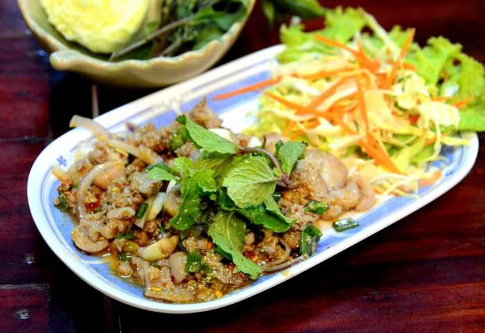 Thai cuisine in the last bar