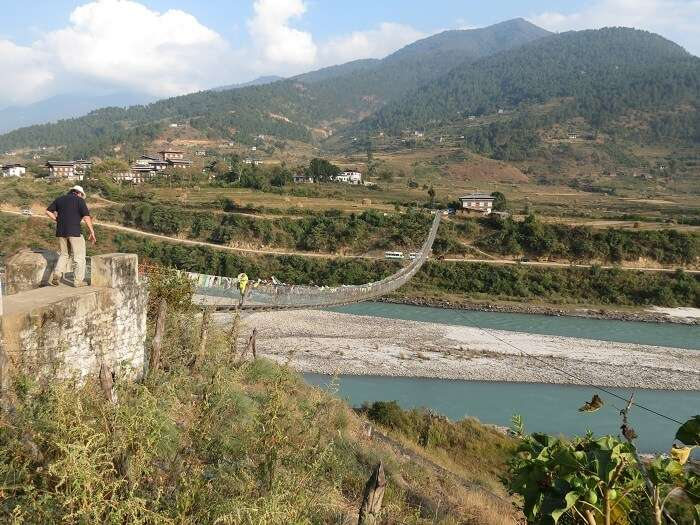 longest suspension bridges in all of Bhutan
