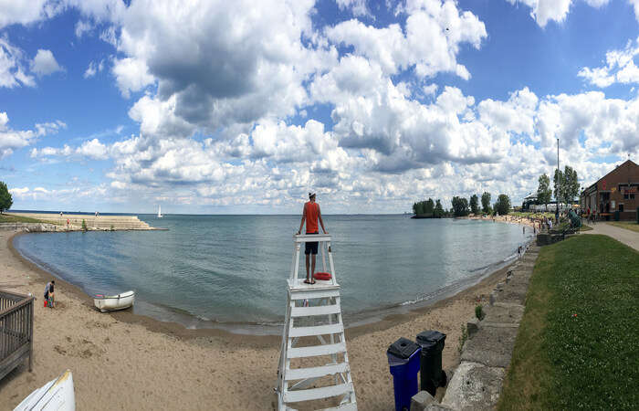 famous lake beach in Chicago
