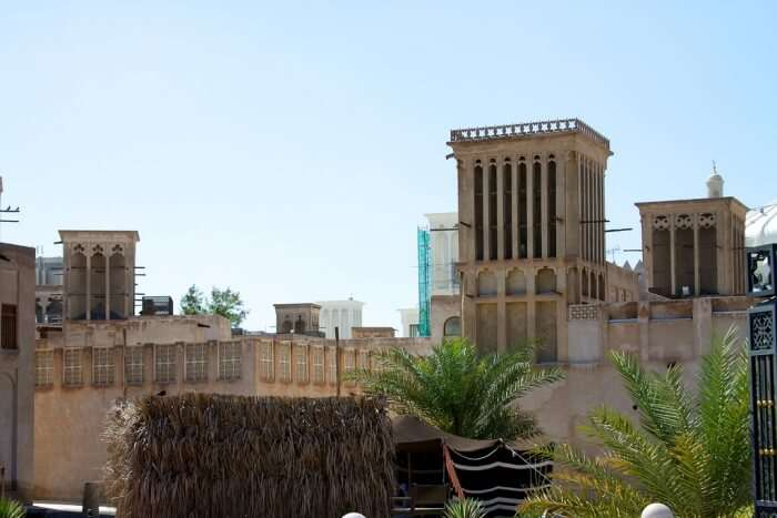 The Architecture Of The Bastakia In Old Dubai