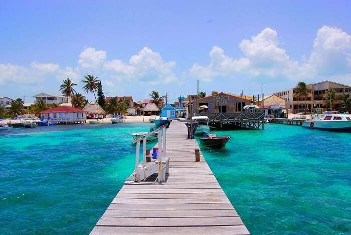the largest island of the hundreds of islands in northern Belize