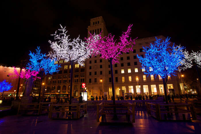 Attend Christmas at Placa De Catalunya