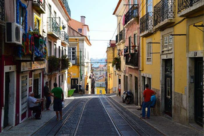 shopping street in Lisbon