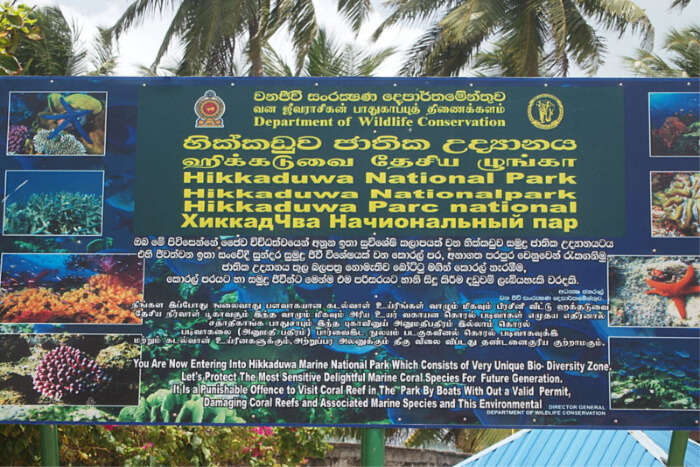 Basic Facts About The Hikkaduwa National Park