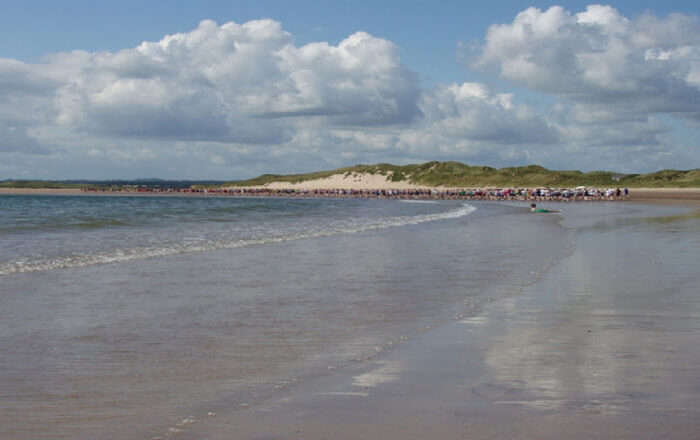 Golden coloured beach
