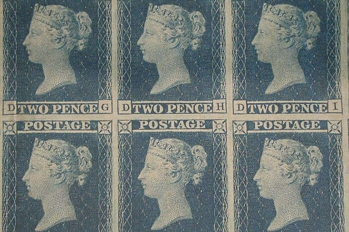 Blue Penny Stamps