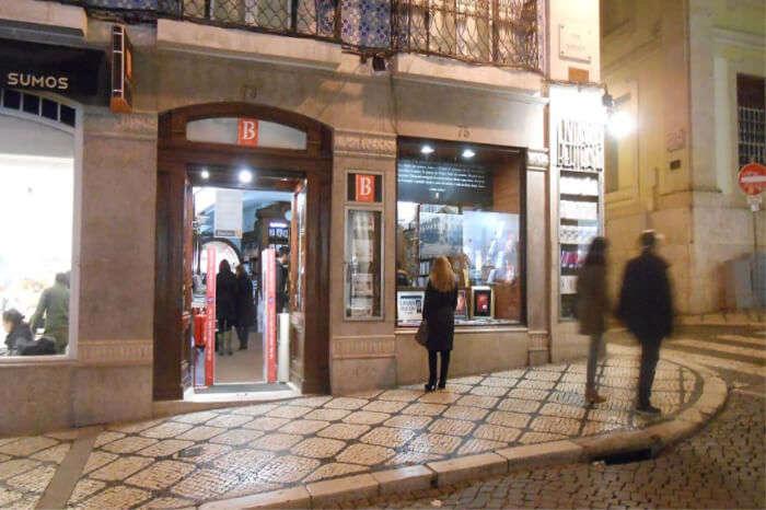 shopping in Lisbon, Portugal.