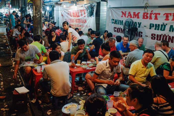 enthusiastic street food culture