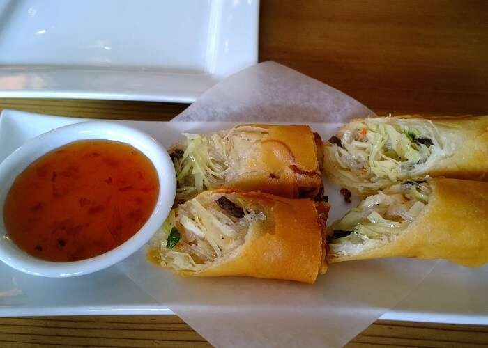 starters like Vietnamese Assorted Spring Rolls