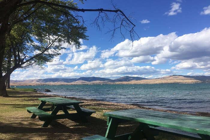 Flathead Lake_ An emerald blue lake