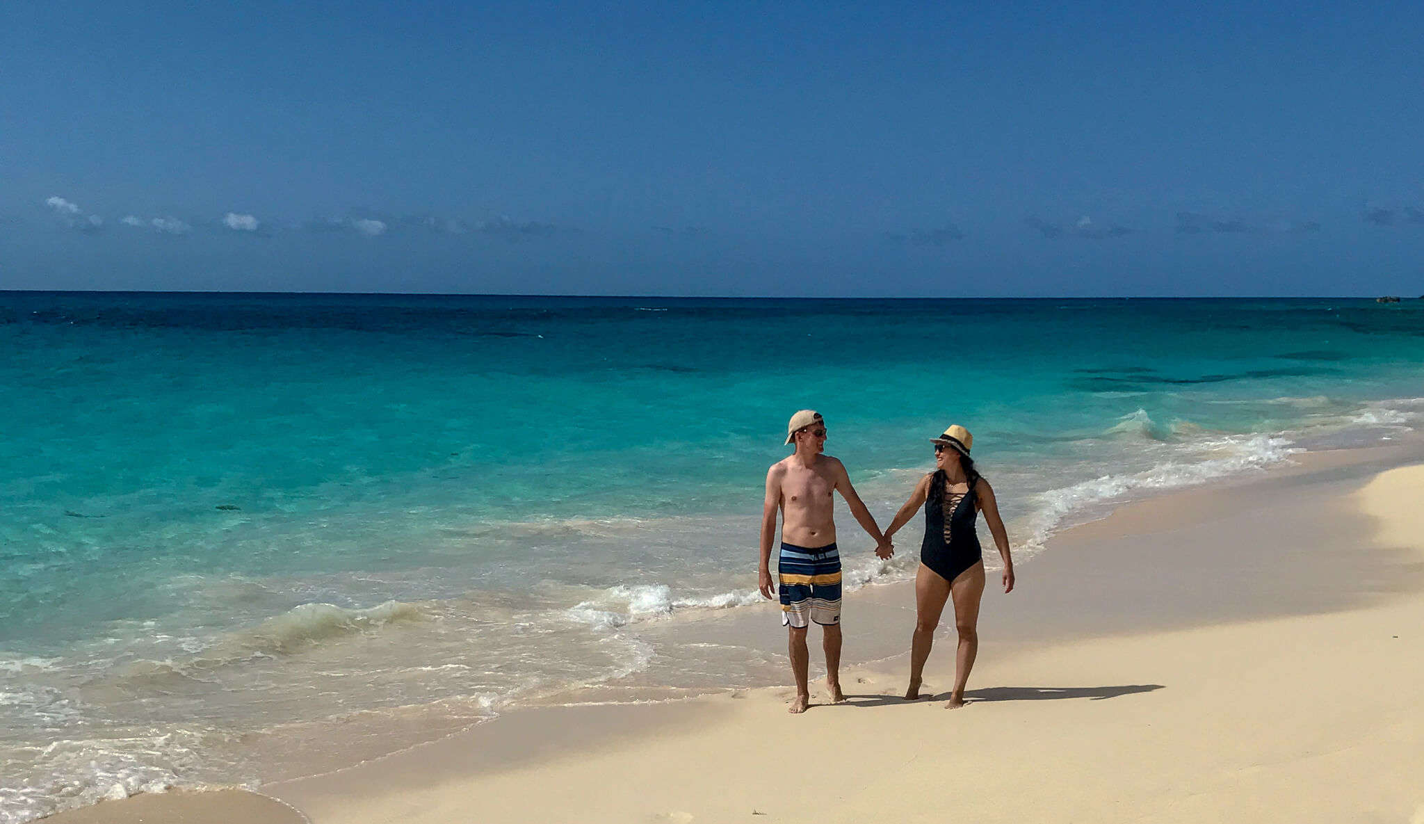a couple on a beach