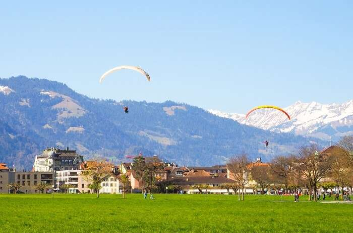 Interlaken paragliding