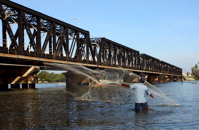 Kallady bridge in Batticaloa