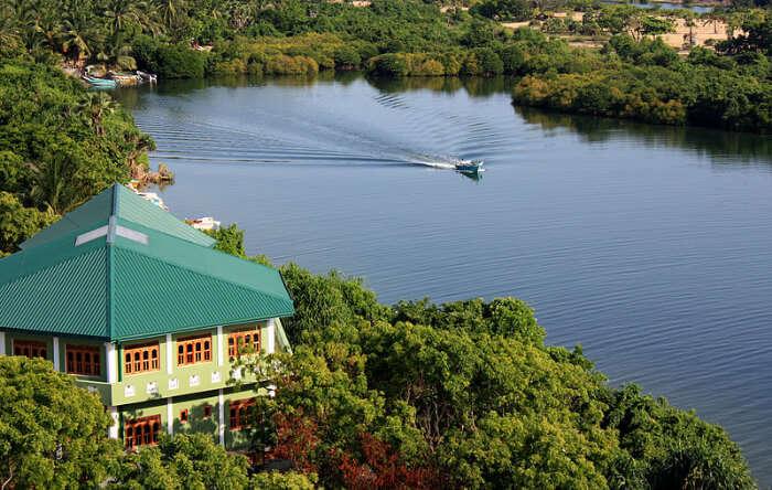 Batticaloa lagoon in Sri Lanka