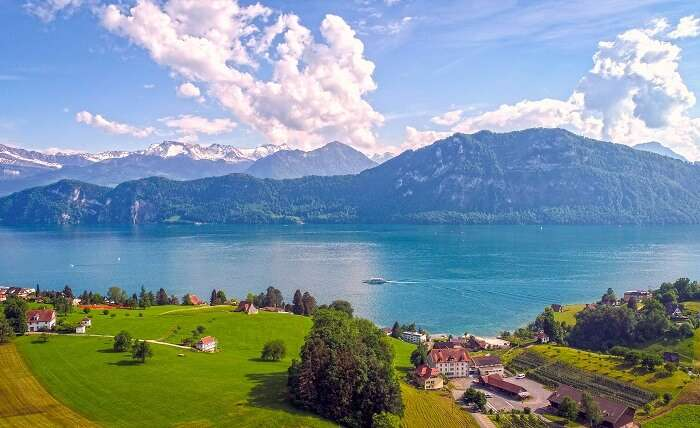 take a trip to Lake Lucerne in Switzerland