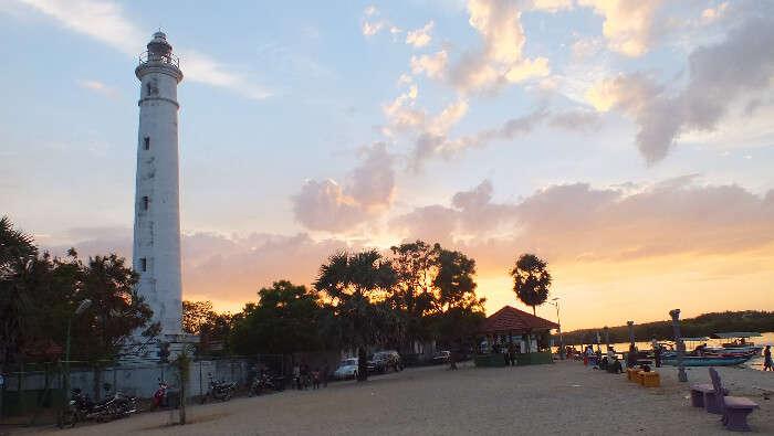 Famous lighthouse of Batticaloa