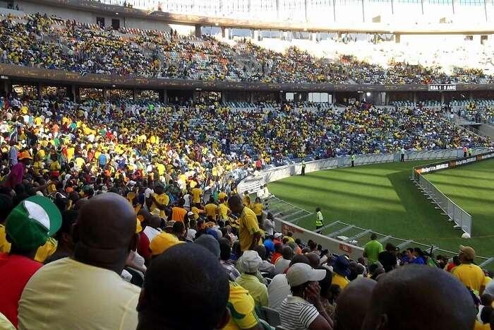 people watching game at Stadium