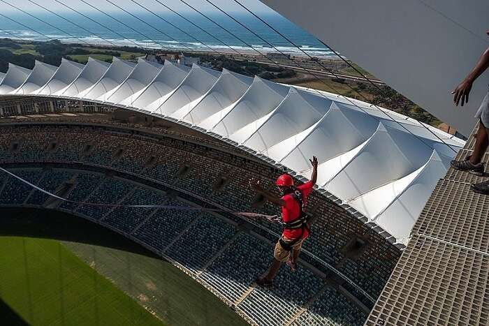 Stadium view from sky